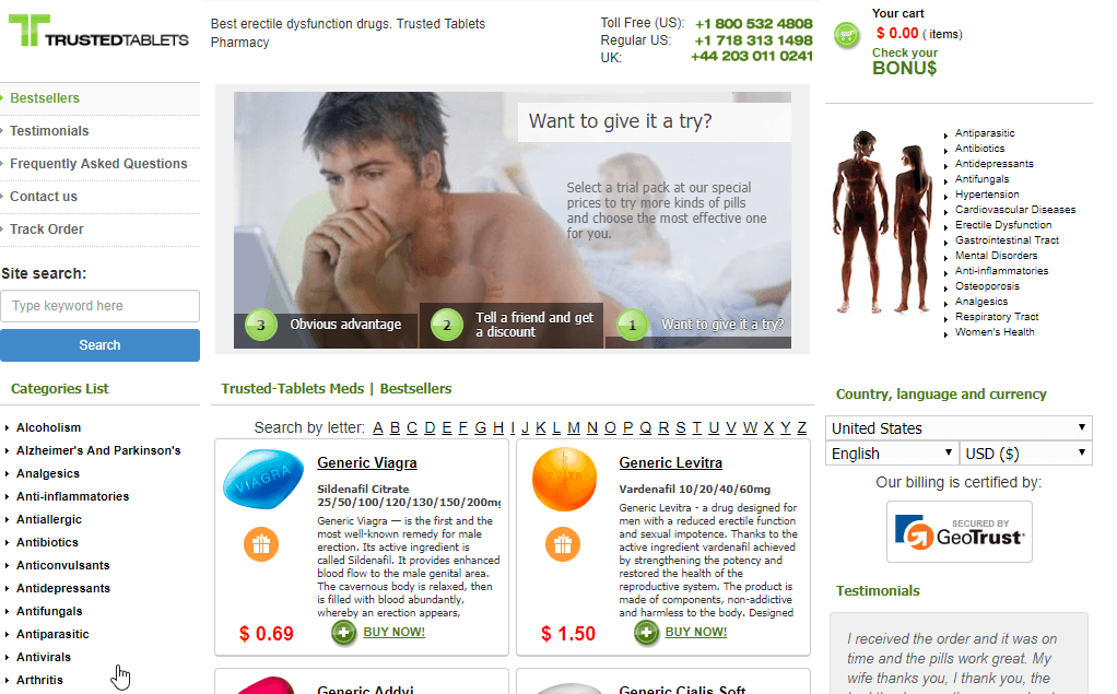 Trusted Tablets Main page